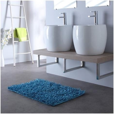 """main image of """"Meuble de salle bain 120 cm double vasques blanche contemporaine"""""""