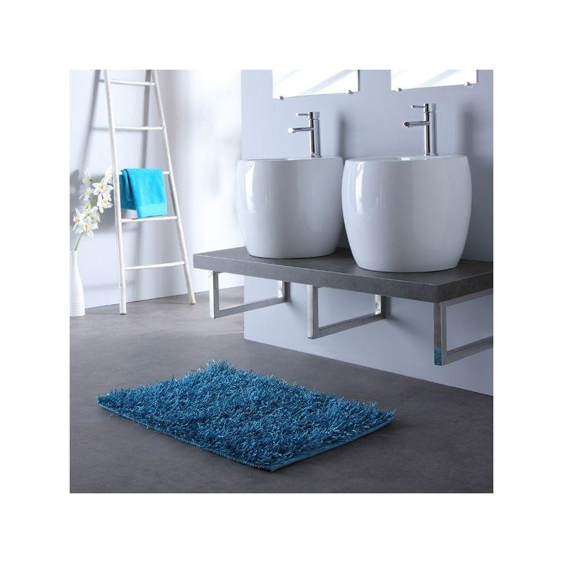 Meuble de salle bain gris avec double vasques blanche design Gris ...