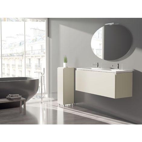 Meuble de salle de bain 120cm BLOC 17 - Ensemble coquille d'œuf