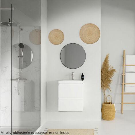Meuble de salle de bain 50 cm blanc Minimal