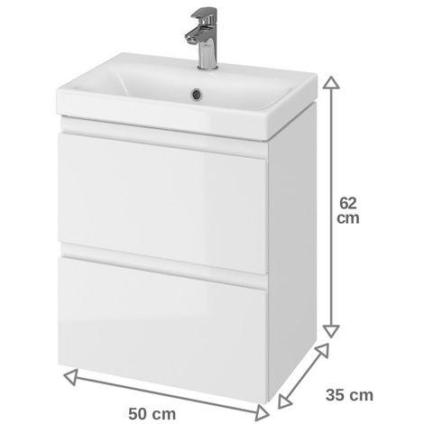 Meuble de salle de bain 50x37.5cm faible profondeur blanc
