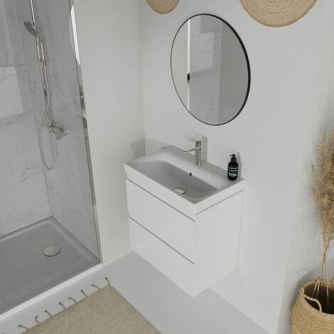 Meuble de salle de bain 60x37.5cm faible profondeur blanc