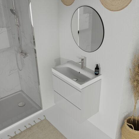 Meuble de salle de bain 60x37.5cm faible profondeur gris