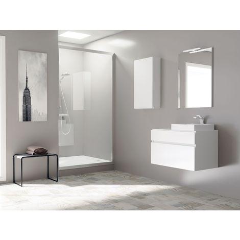 Meuble de salle de bain 80cm BLOC 14 - Ensemble blanc