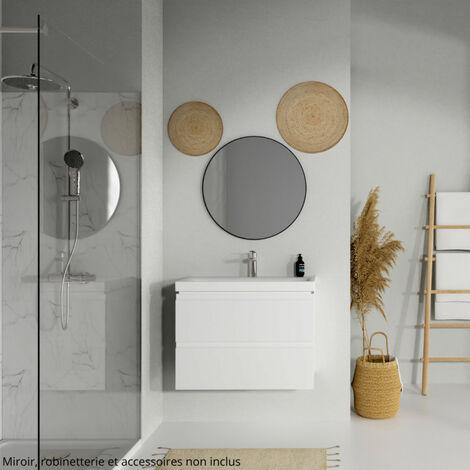 Meuble de salle de bain 80x45cm Minimal Blanc