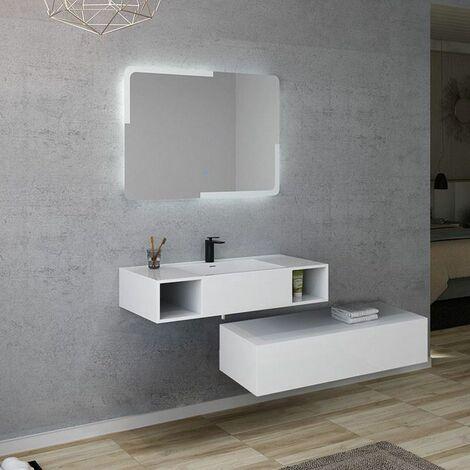 Meuble de salle de bain ALESIA 1000 Blanc