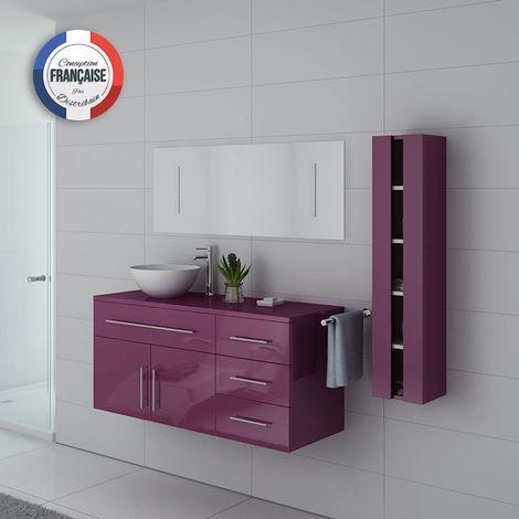 Meuble de salle de bain AREZZO Aubergine