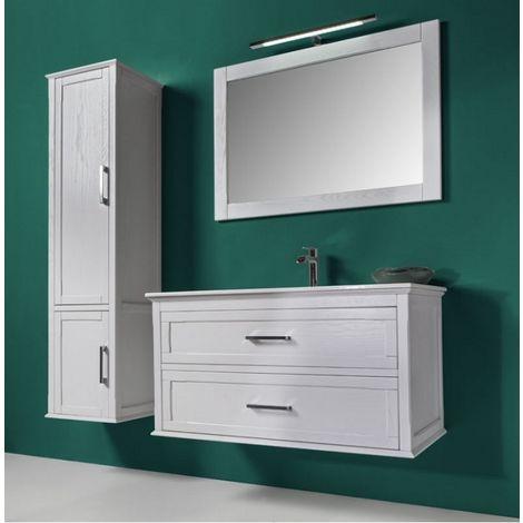 Meuble de salle de bain Atena composition 2 Blanc mat