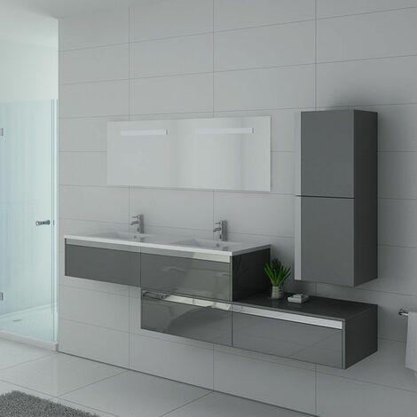 Meuble de salle de bain BELLISSIMO Gris Taupe