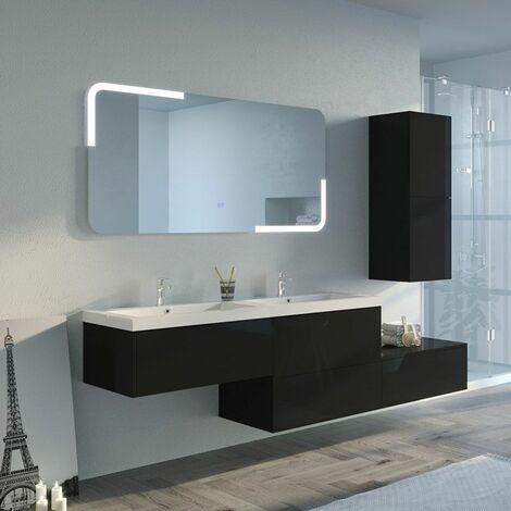 Meuble de salle de bain BELLISSIMO Noir