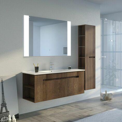 Meuble de salle de bain BOVALINO 1200 Chêne Foncé
