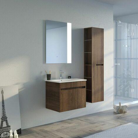 Meuble de salle de bain BOVALINO 600 Chêne Foncé