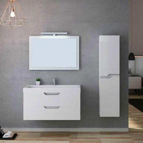 Meuble de salle de bain CALABRO 1000 Blanc