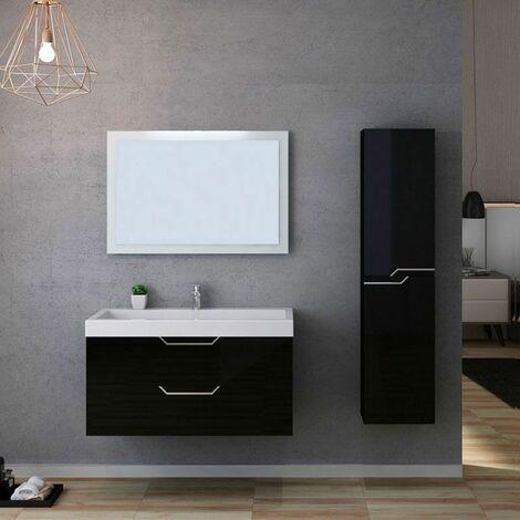 Meuble de salle de bain CALABRO 1000 Noir