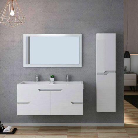 Meuble de salle de bain CALABRO 1200 Blanc
