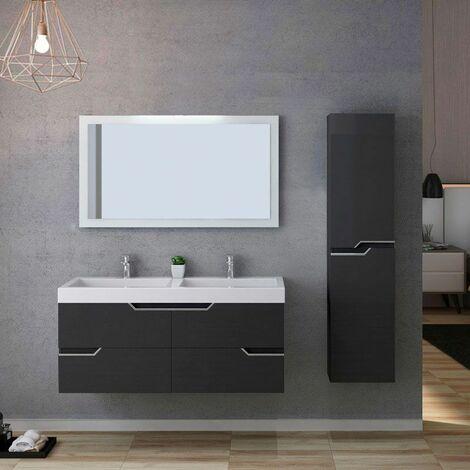 Meuble de salle de bain CALABRO 1200 Gris Anthracite