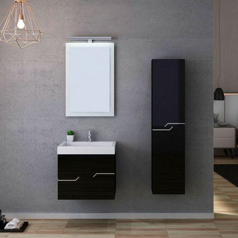 Meuble de salle de bain CALABRO 600 Noir