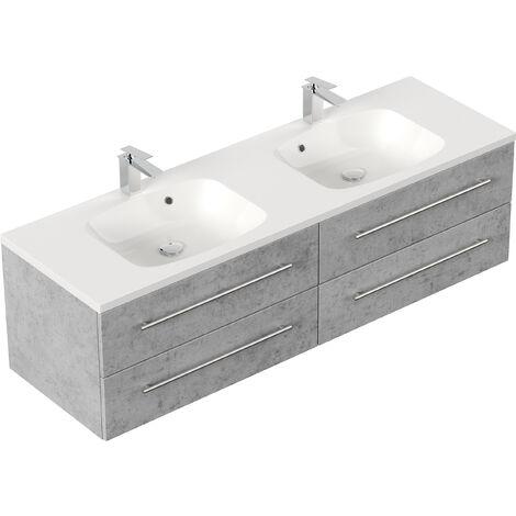Meuble de salle de bain Colossos 160 Aspect Béton
