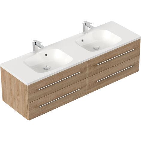 Meuble de salle de bain Colossos 160 décor Chêne