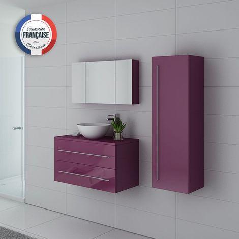Meuble de salle de bain Cosenza Aubergine