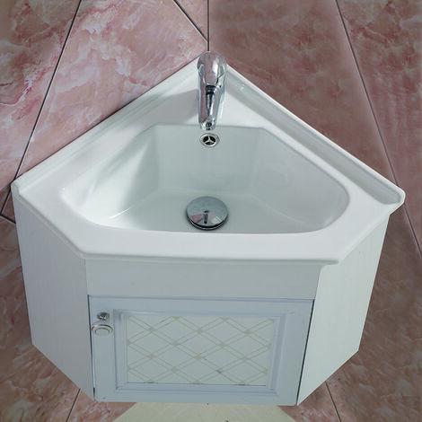 Meuble de salle de bain d\'angle avec le miroir , le lavabo