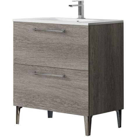Meuble de salle de bain DEKO 80 cm Bois foncé
