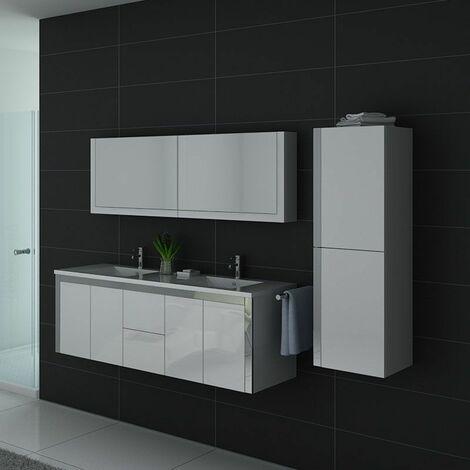 Meuble de salle de bain DIS025-1500 Blanc