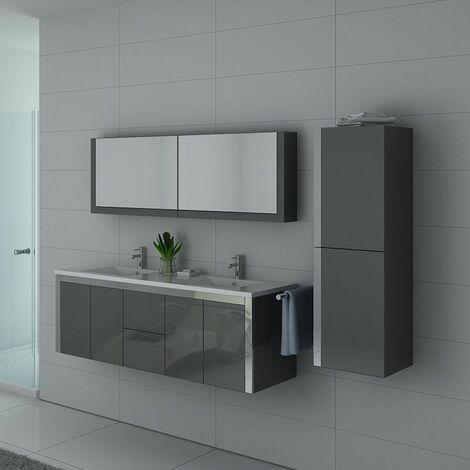 Meuble de salle de bain DIS025-1500 Gris taupe