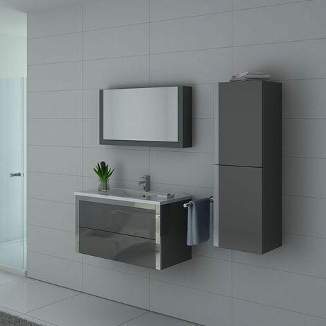 Meuble de salle de bain DIS025-900 Gris Taupe