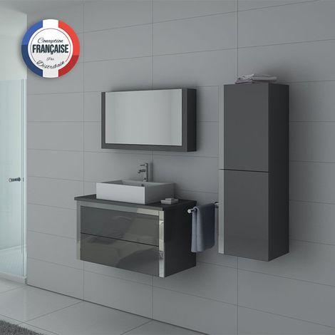 Meuble de salle de bain DIS026-900 Gris Taupe