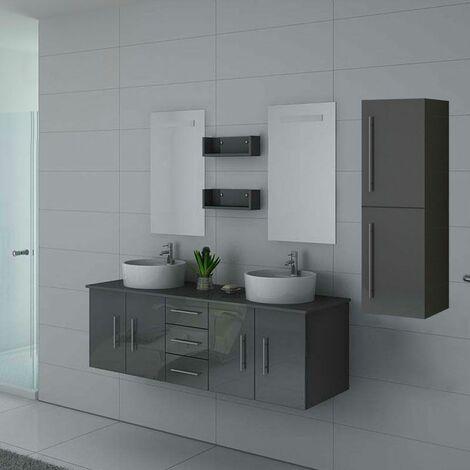 Meuble de salle de bain DIS747 Gris Taupe