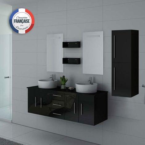 Meuble de salle de bain DIS747 Noir