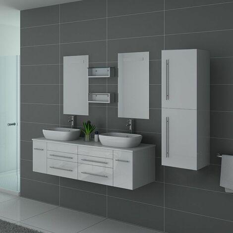 Meuble de salle de bain DIS748 Blanc