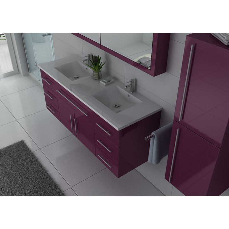 Meuble de salle de bain DIS749 Aubergine