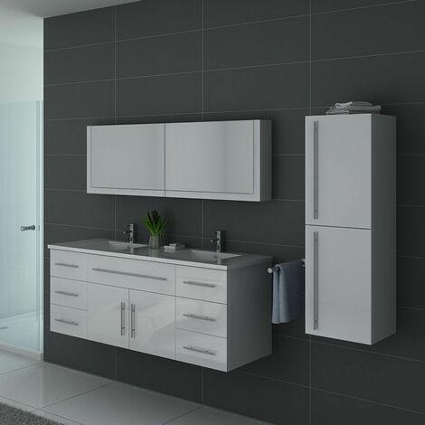 Meuble de salle de bain DIS749 Blanc