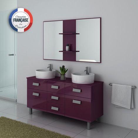 Meuble de salle de bain DIS911 Aubergine - DIS911AU