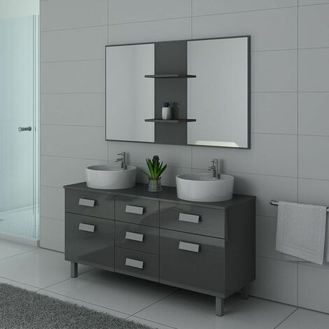 Meuble de salle de bain DIS911 Gris taupe - DIS911GT
