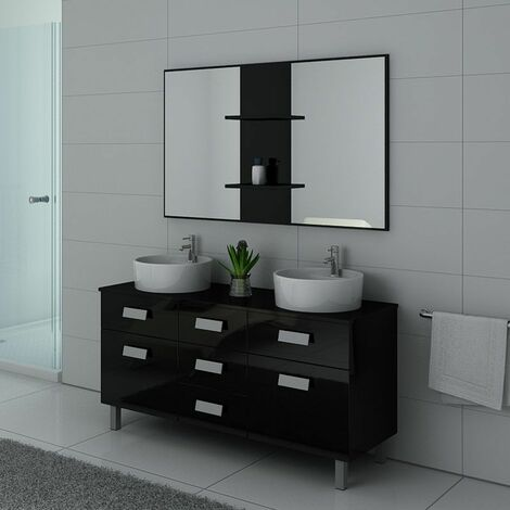 Meuble de salle de bain DIS911 Noir