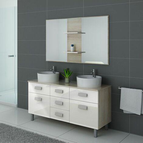 Meuble de salle de bain DIS911 Scandinave et Blanc