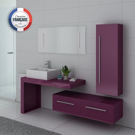 Meuble de salle de bain DIS9250 Aubergine