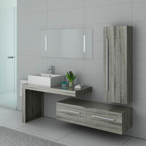 Meuble de salle de bain DIS9250 Chêne Gris