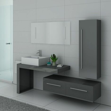 Meuble de salle de bain DIS9250 Gris taupe
