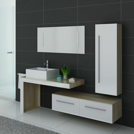 Meuble de salle de bain DIS9250 Scandinave et blanc
