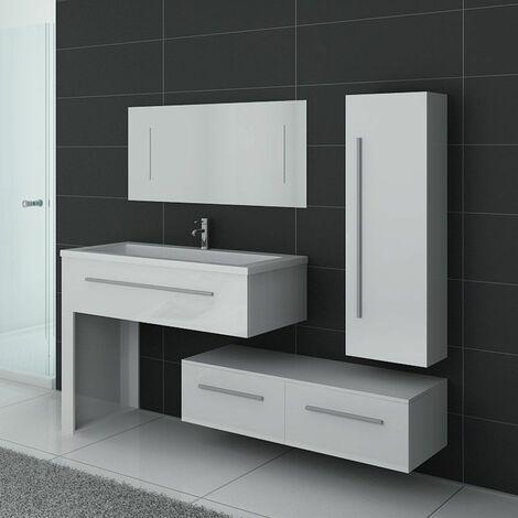 Meuble de salle de bain DIS9251B Blanc