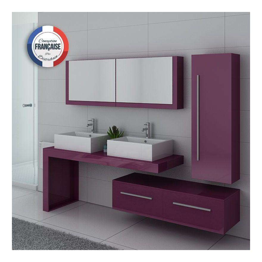 Meuble de salle de bain DIS9350 Aubergine