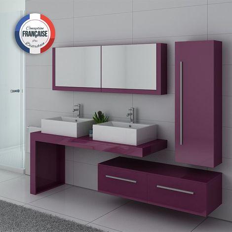 Meuble de salle de bain DIS9350 Aubergine - DIS9350AU