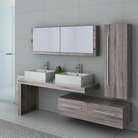 Meuble de salle de bain DIS9350 Chêne Gris