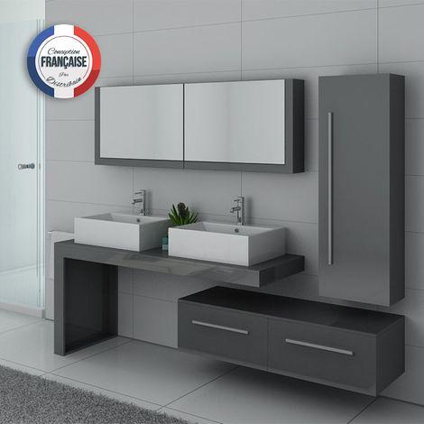 Meuble de salle de bain DIS9350 Gris Taupe