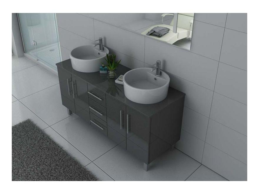 Meuble de salle de bain DIS989 Gris Taupe