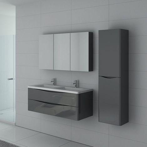Meuble de salle de bain double vasque TREVISE 1200 Gris Taupe